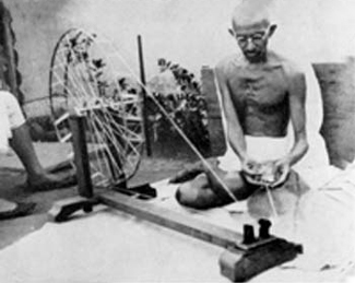 Gandi at his wheel
